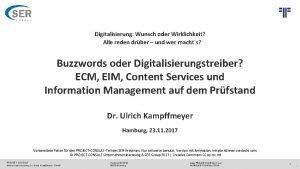 PROJECT CONSULT Unternehmensberatung Dr Ulrich Kampffmeyer Gmb H