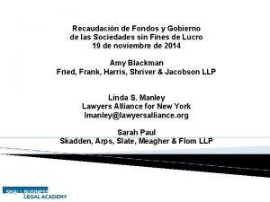 Recaudacin de Fondos y Gobierno de las Sociedades