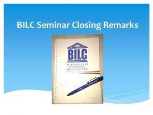 BILC Seminar Closing Remarks Authentic autumn in Budapest