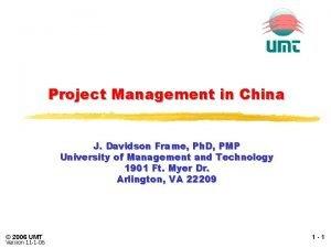 Project Management in China J Davidson Frame Ph