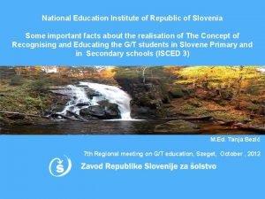 National Education Institute of Republic of Slovenia Some