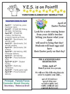 Y E S is on Point YORKTOWN ELEMENTARY