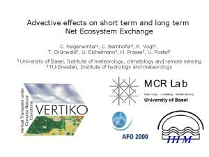Advective effects on short term and long term