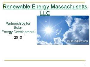 Renewable Energy Massachusetts LLC Partnerships for Solar Energy