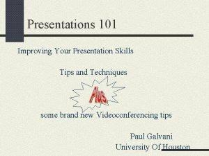 Presentations 101 Improving Your Presentation Skills Tips and