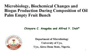 Microbiology Biochemical Changes and Biogas Production During Composition