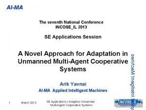 AIMA The seventh National Conference INCOSEIL 2013 SE