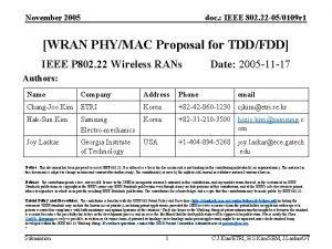 November 2005 doc IEEE 802 22 050109 r