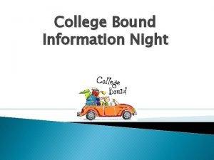 College Bound Information Night College Types Public Oregon