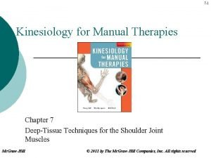 7 1 Kinesiology for Manual Therapies Chapter 7
