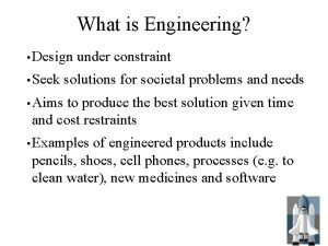 What is Engineering Design Seek under constraint solutions