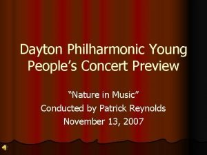 Dayton Philharmonic Young Peoples Concert Preview Nature in