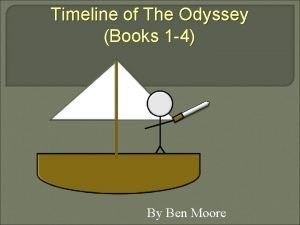 Timeline of The Odyssey Books 1 4 By