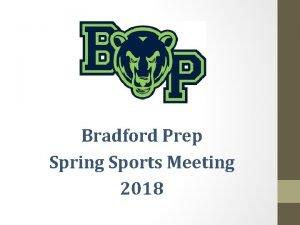 Bradford Prep Spring Sports Meeting 2018 Bradford Prep