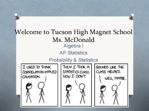 Welcome to Tucson High Magnet School Ms Mc