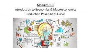 Modules 1 3 Introduction to Economics Macroeconomics Production