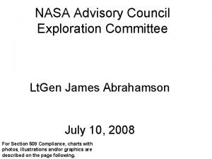 NASA Advisory Council Exploration Committee Lt Gen James