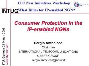 ITU New Initiatives Workshop ITU Geneva 24 March