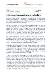 Article de presse Date de publication 17092013 Softeam
