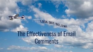 The Effectiveness of Email Comments Scholarship Comments on