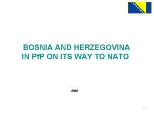 BOSNIA AND HERZEGOVINA IN Pf P ON ITS