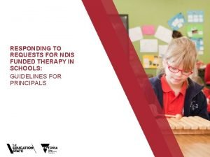 RESPONDING TO REQUESTS FOR NDIS FUNDED THERAPY IN
