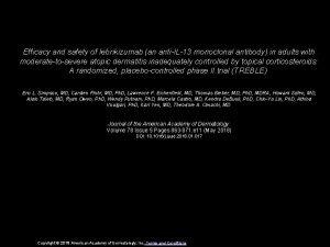 Efficacy and safety of lebrikizumab an antiIL13 monoclonal