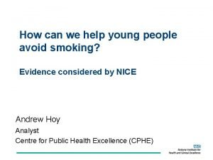 How can we help young people avoid smoking