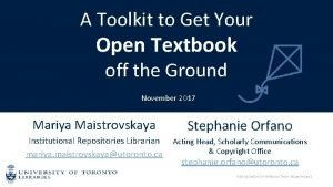 A Toolkit to Get Your Open Textbook off
