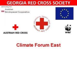 GEORGIA RED CROSS SOCIETY Climate Forum East GEORGIA