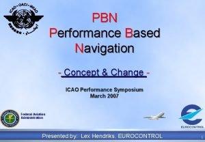 PBN Performance Based Navigation Concept Change ICAO Performance