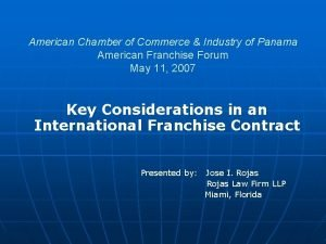 American Chamber of Commerce Industry of Panama American