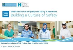 Diabetes Screening and Risk Factors Safe Smart Screening