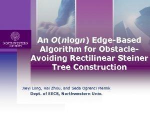 An Onlogn EdgeBased Logo Algorithm for Obstacle Avoiding