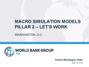 MACRO SIMULATION MODELS PILLAR 2 LETS WORK WASHINGTON