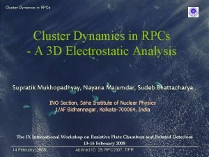 Cluster Dynamics in RPCs A 3 D Electrostatic