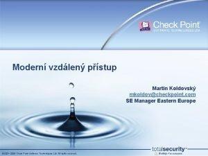 Modern vzdlen pstup Martin Koldovsk mkoldovcheckpoint com SE