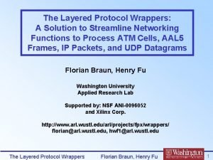 The Layered Protocol Wrappers A Solution to Streamline