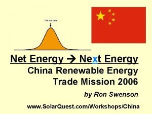 Net Energy Next Energy China Renewable Energy Trade