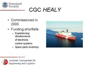 Homeland Security CGC HEALY Commissioned in 2000 Funding