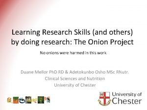 Learning Research Skills and others by doing research