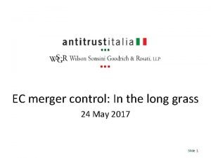 EC merger control In the long grass 24