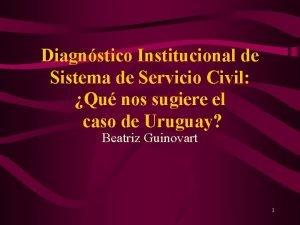 Diagnstico Institucional de Sistema de Servicio Civil Qu