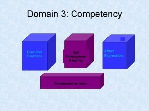 Domain 3 Competency t Affect Expression Domain 3