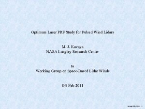 Optimum Laser PRF Study for Pulsed Wind Lidars