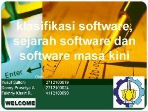 klasifikasi software sejarah software dan software masa kini