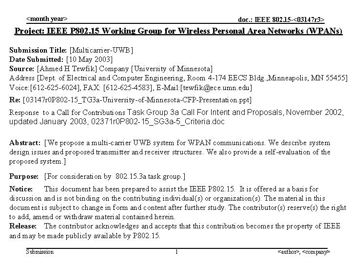 month year doc IEEE 802 15 03147 r