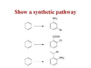 Show a synthetic pathway Show a synthetic pathway