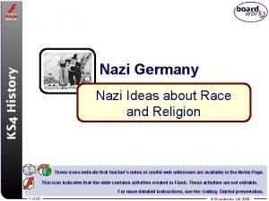 Nazi Germany Nazi Ideas about Race and Religion