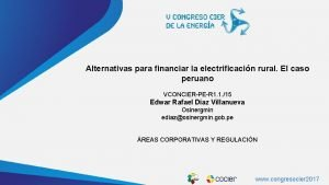 www cocier org Alternativas para financiar la electrificacin